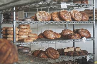 Bread on shelves at Iggy's Bread of the World