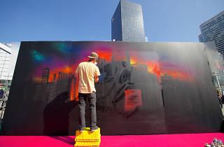Le parvis de la Défense sous le signe du street art