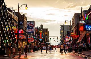 Beale Street at dusk Memphis
