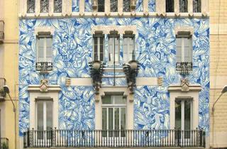 Un gran mural transformarà la façana de la seu del districte de Gràcia