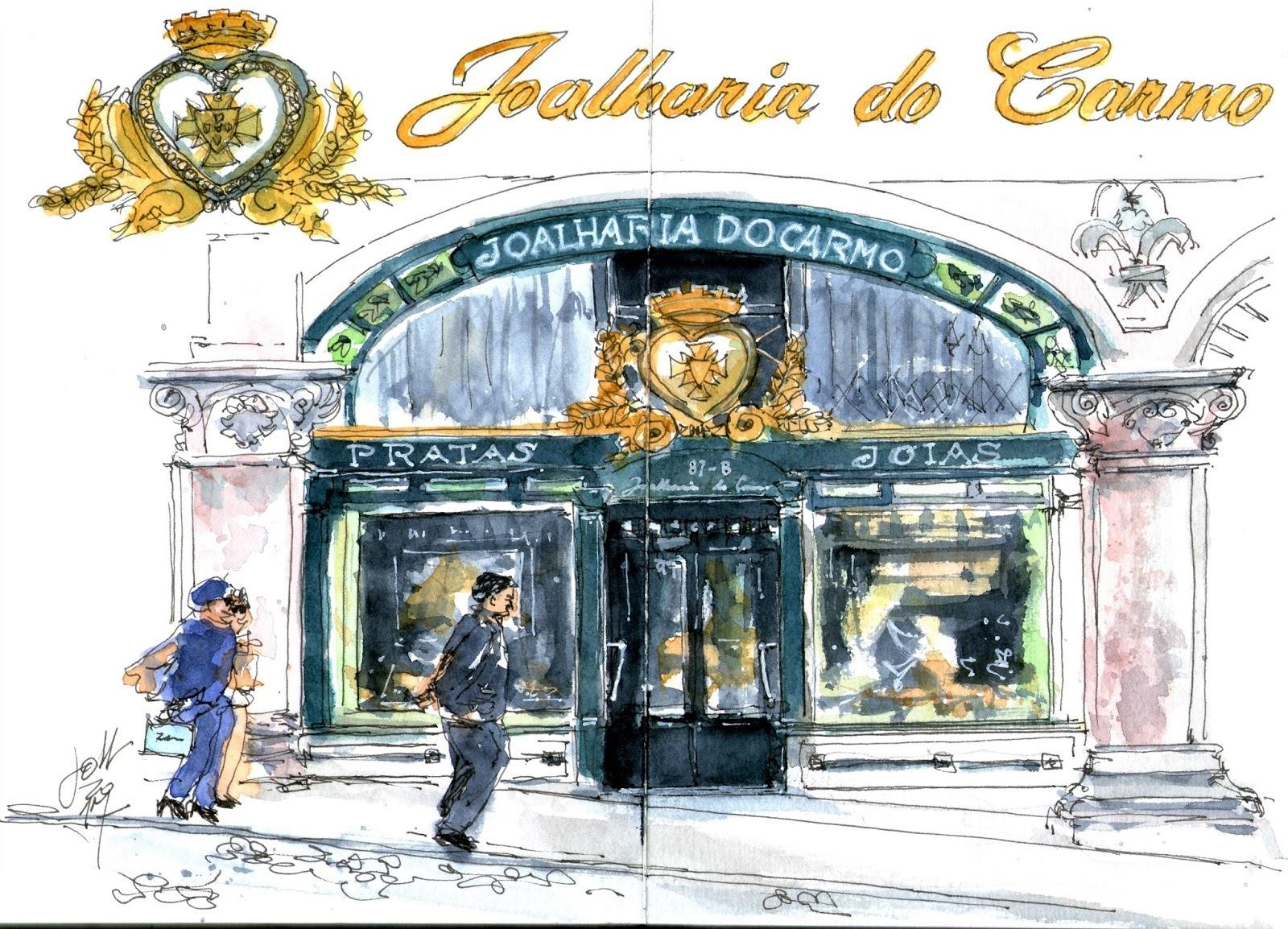 Lojas ilustradas em livro dos Urban Sketchers