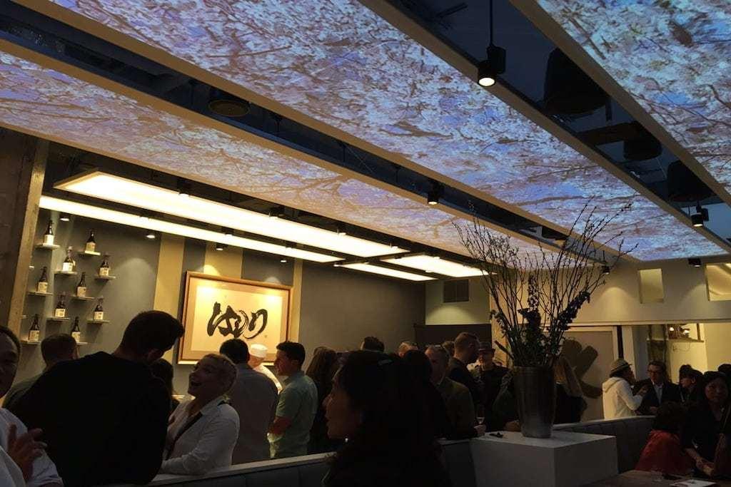Interior design of Hashiri restaurant