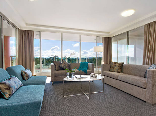 Lounge room in Pacific Suites Canberra