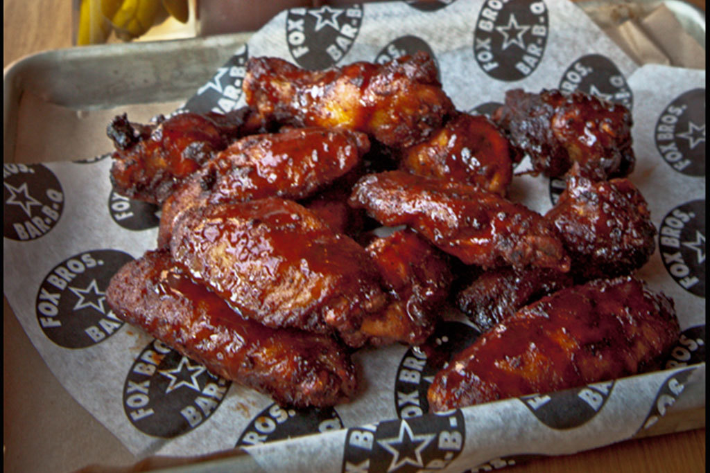 Smoked chicken wings at Fox Bros. Bar-B-Q