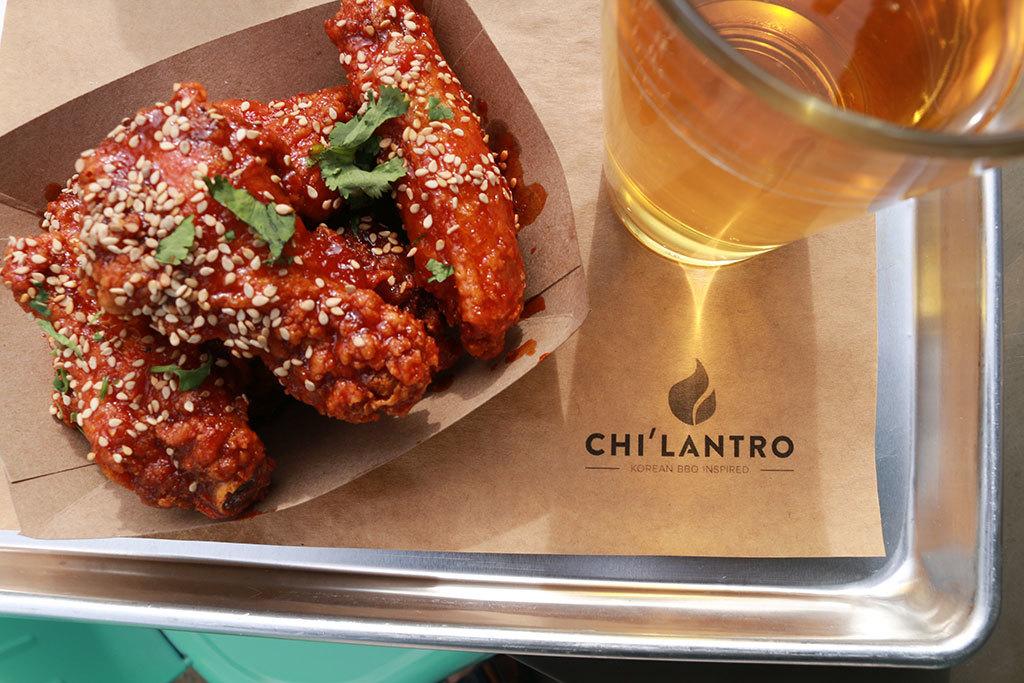 Korean fried chicken wings at Chi'lantro BBQ