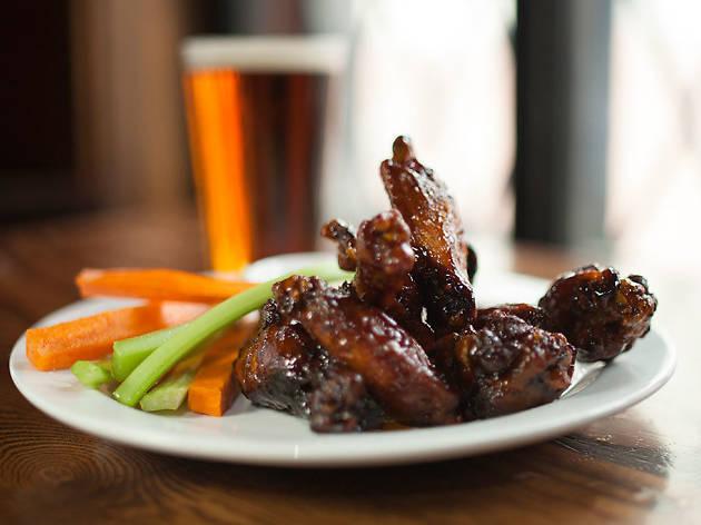 Chicken wings at Franky Bradley's in Philadelphia