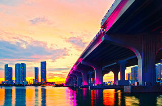Downtown Miami bridge