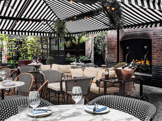 Courtyard at Chiltern Firehouse