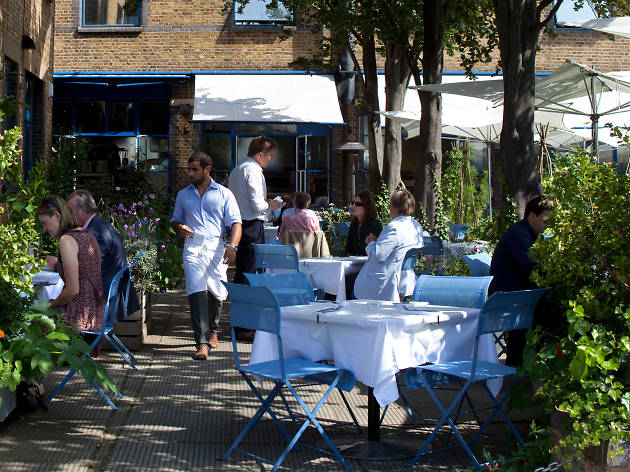 Garden at The River Café, Hammersmith