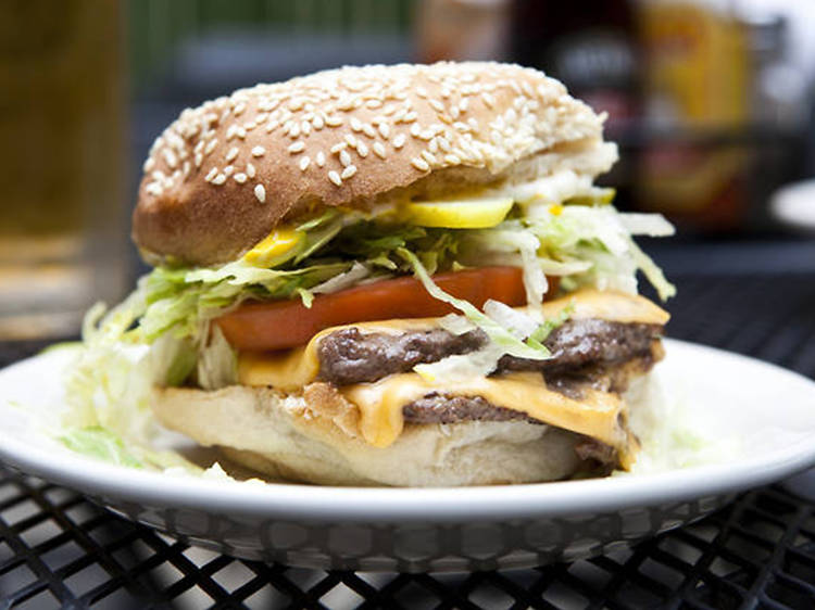 Double Burger at The Dram Shop