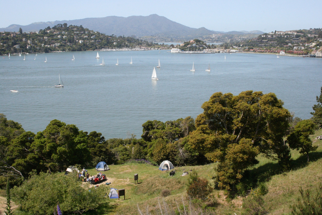 Camping on Angel Island