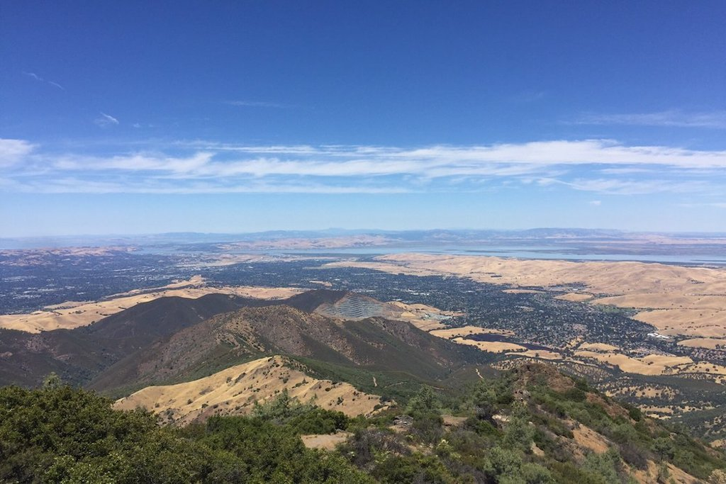Overview of Mount Diablo Park on a warm summer day