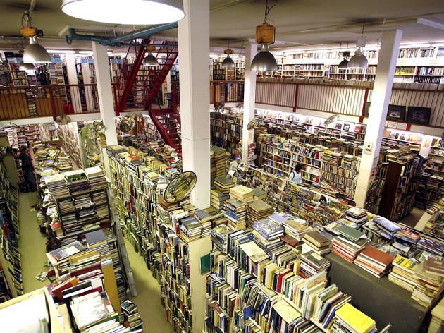 Interior at Goulds Bookshop Newtown
