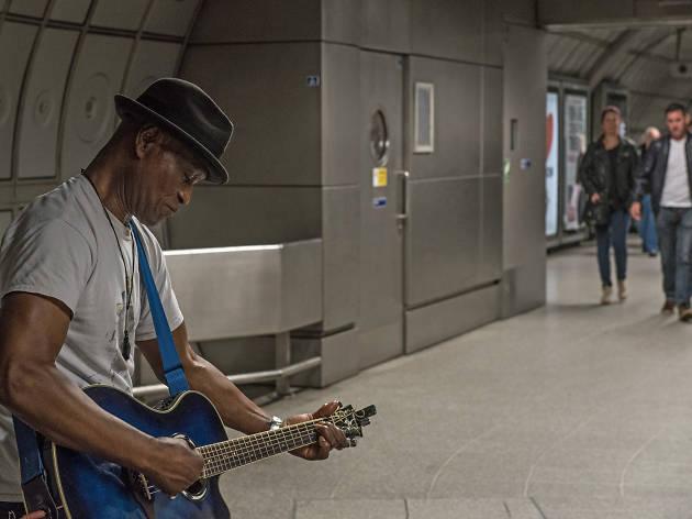 London tube busker