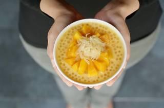 mango sago pomelo pudding