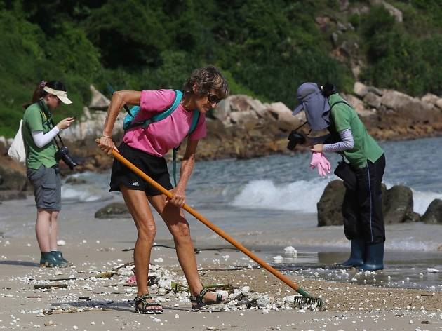 Lamma beach cleanup