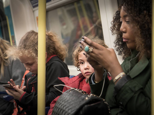 Phones on the tube