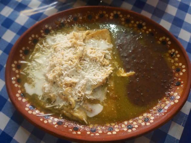 Enchiladas verdes Cazuelas Don Goyo CDMX