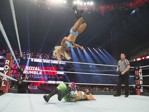 Charlotte Flair in action