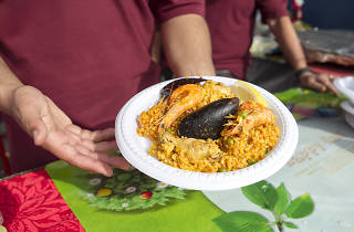 Paella on a plate