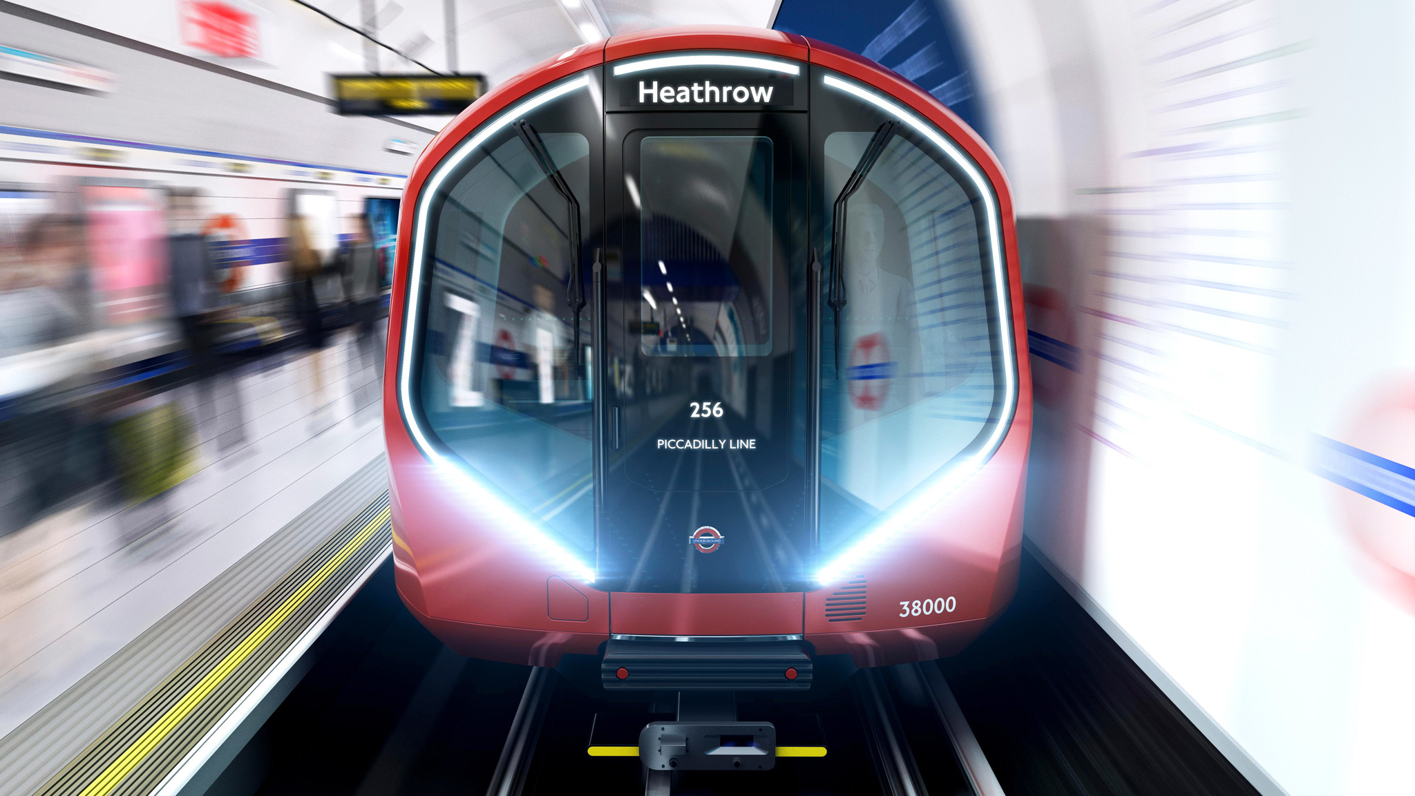 New tube train on the Piccadilly Line