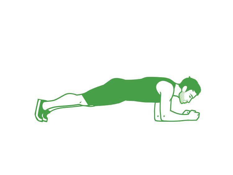 Plancha con antebrazos