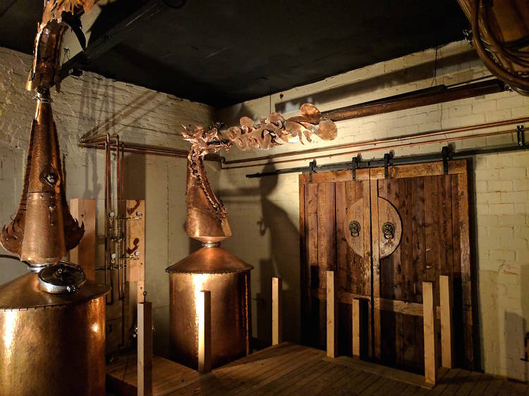 This distillery tour is like a boozy theme park for adults