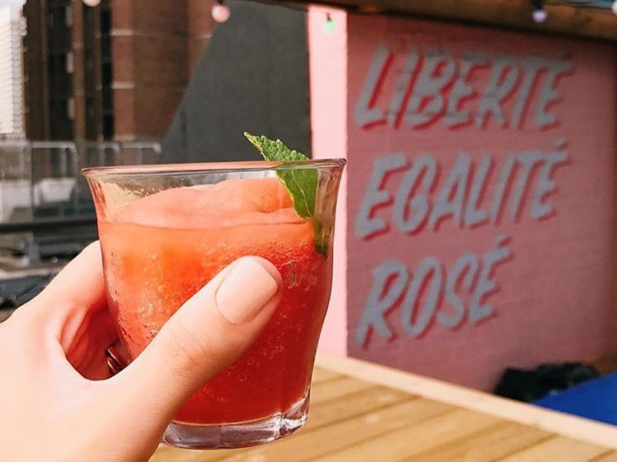 london's best slushie cocktails, bar elba frose