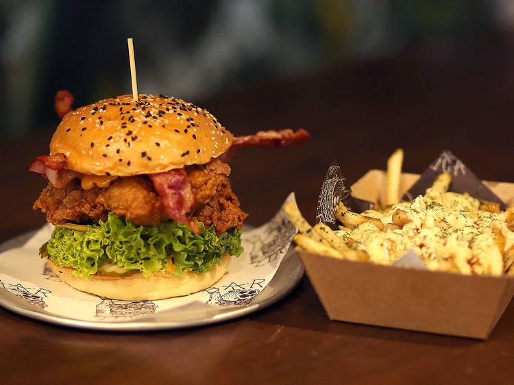 BL chicken burger at Bar Luca