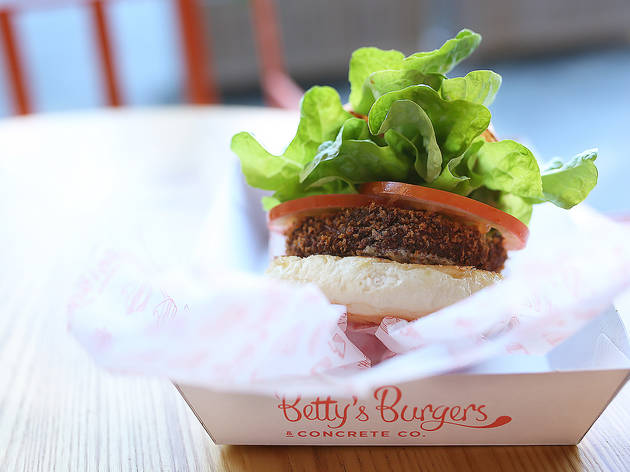 Shroom burger at Betty's Burgers