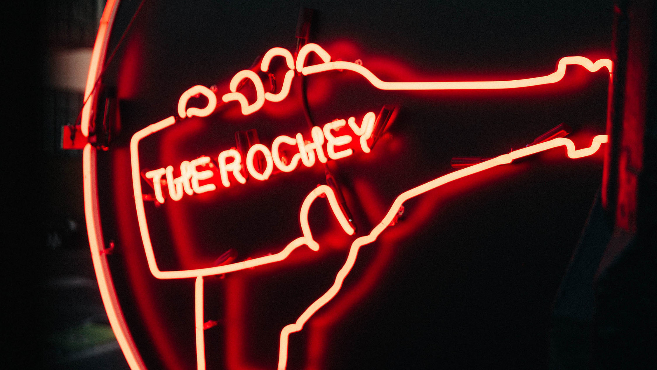 The Rochester Hotel neon signage