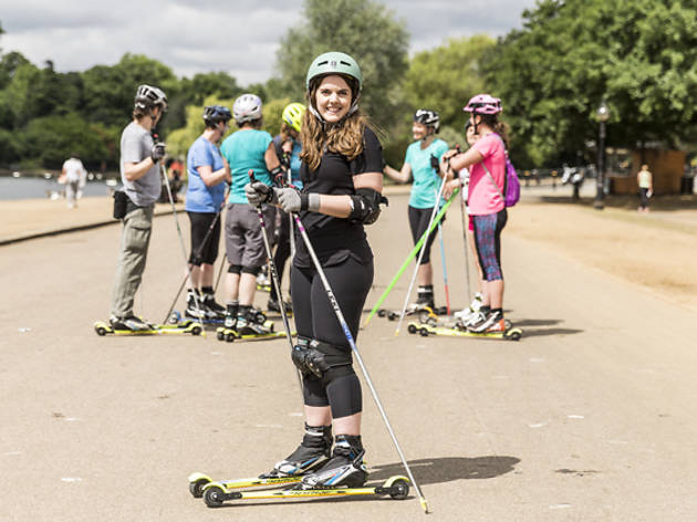 Ever heard of roller skiing? We try it in Hyde Park