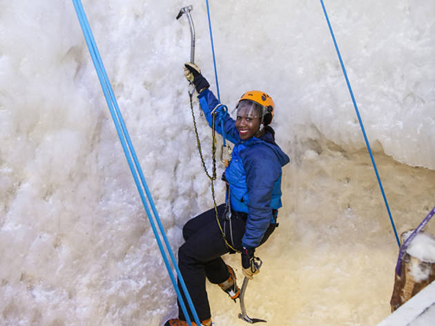Did you know you can go ice climbing in London? We gave it a go
