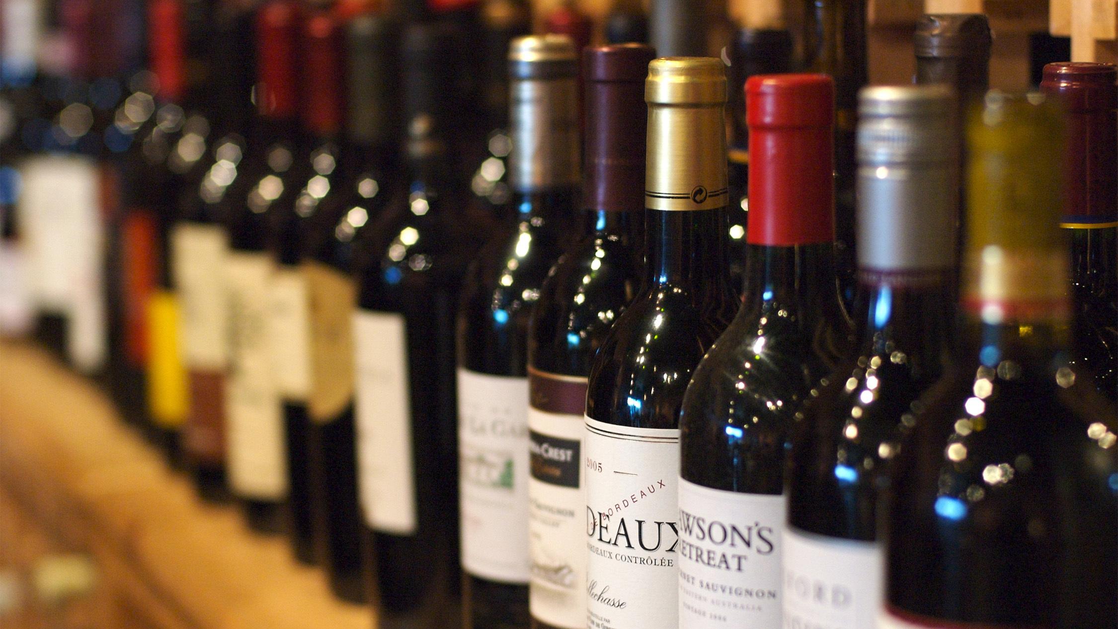 Generic wine bottles
