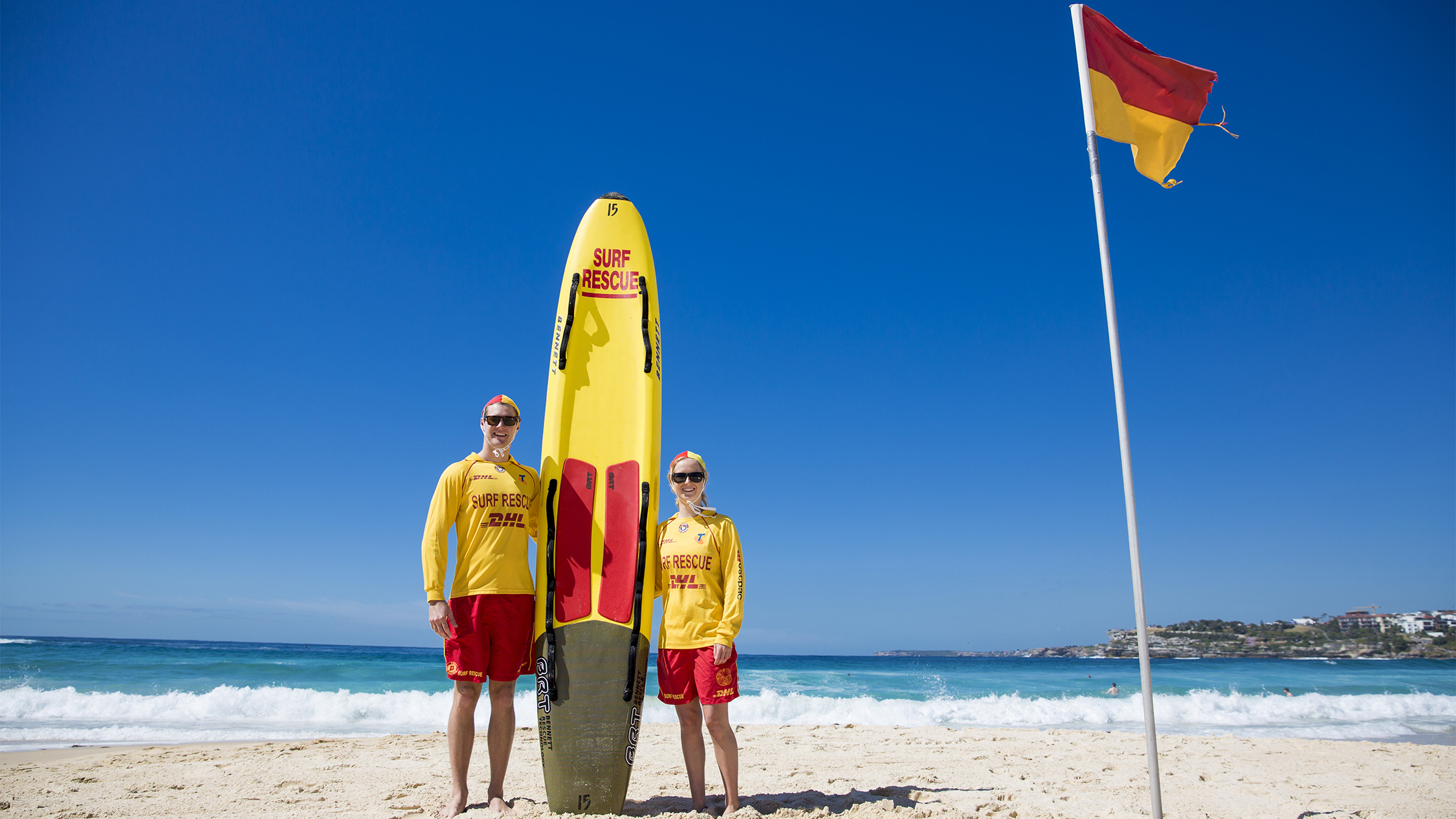 Zoe Whitfield and Reece Holland - North Bondi life savers