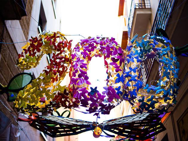 Carrers guarnits de la Festa Major de Gràcia 2017