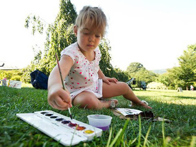 Family Art Project: Painting Outdoors with Eliza, Susie and Harriet