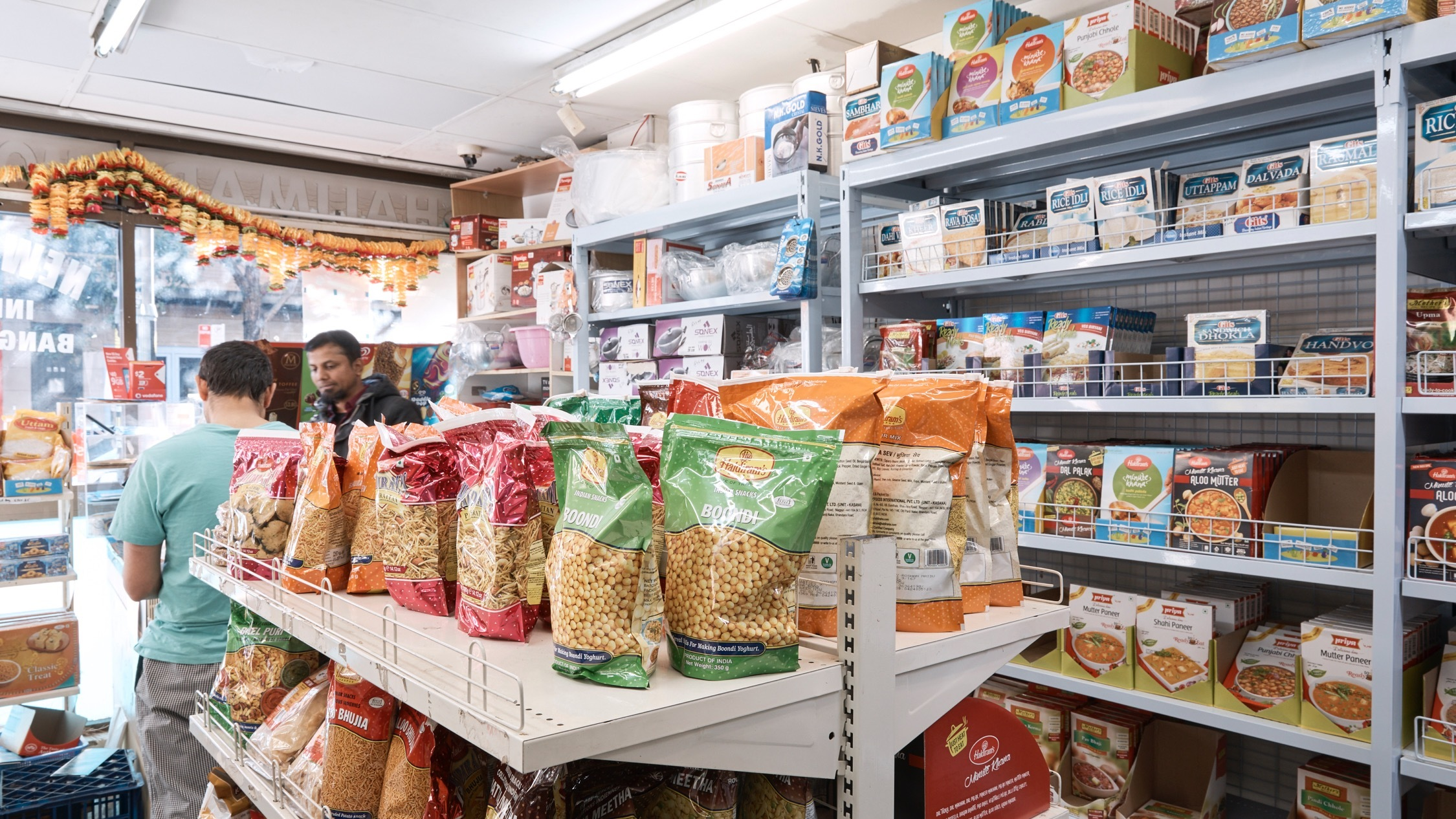 Products on shelves at New Shalimar