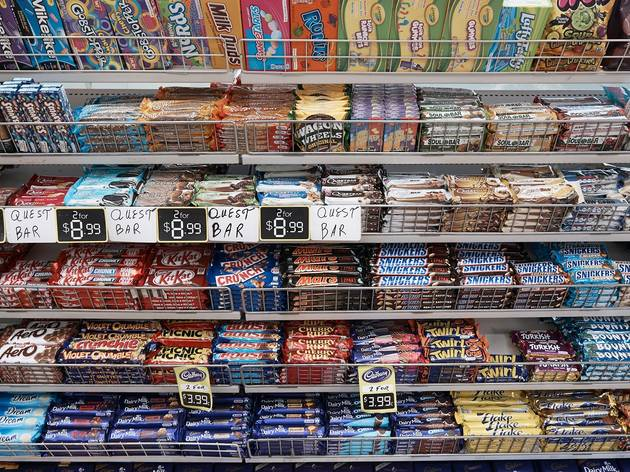 Chocolate bars at Redfern Convenience Store