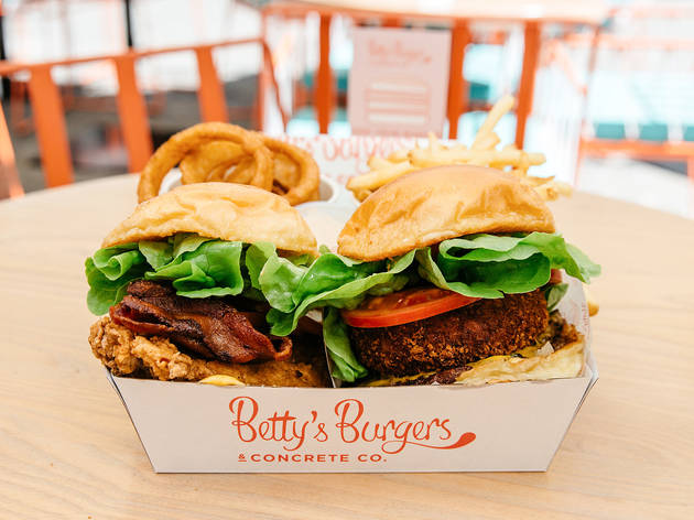 Burgers at Betty's Burgers