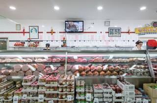 Deli meat counter at Charlie's Fresh Food Market