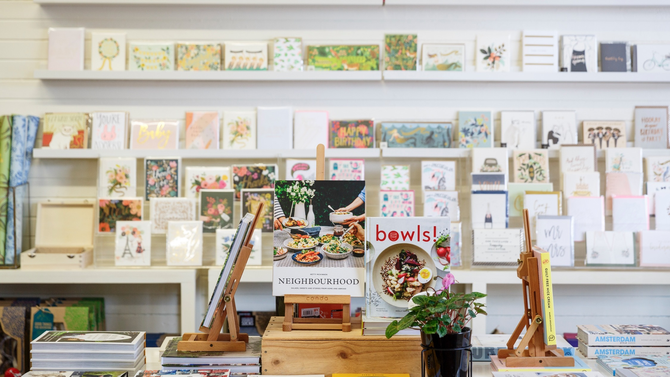 Books and cards at Daisy and Rowe