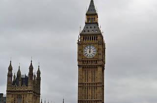 Big Ben strikes noon