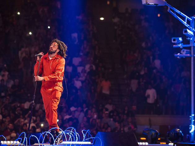 J. Cole brings beats and politics to his show