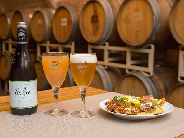 Check out photos from our tasty rustic brunch at Goose Island's Barrel Warehouse
