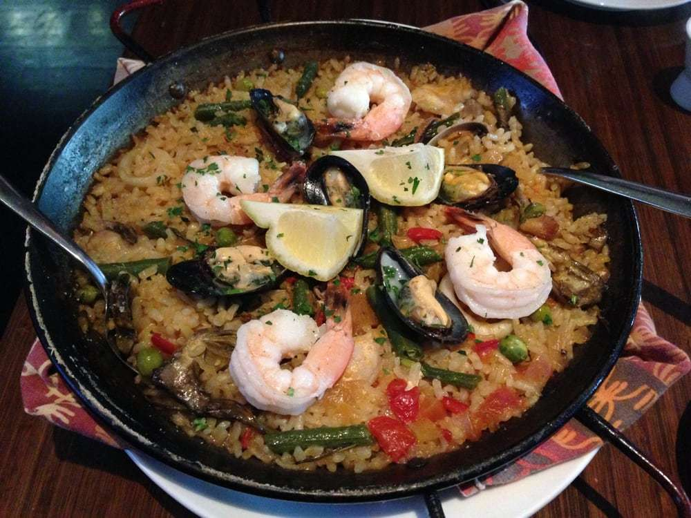 Seafood paella at Canela