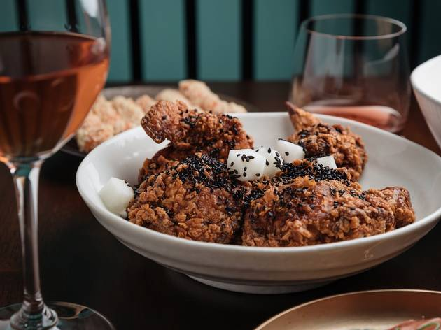 Fried chicken at Paper Bird