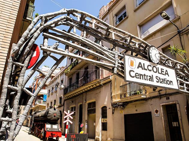 Festa Major de Sants 2017. Carrer Alcolea de Dalt.