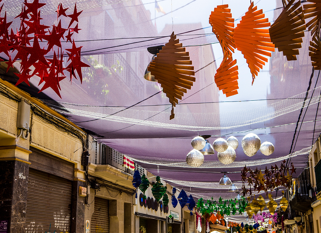 Festa Major de Sants 2017. Carrer Alcolea de Baix.