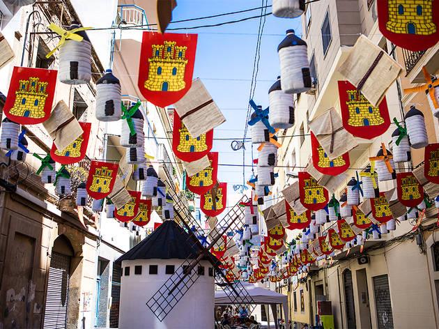 Festa Major de Sants 2017. Carrer Santa Cecília.